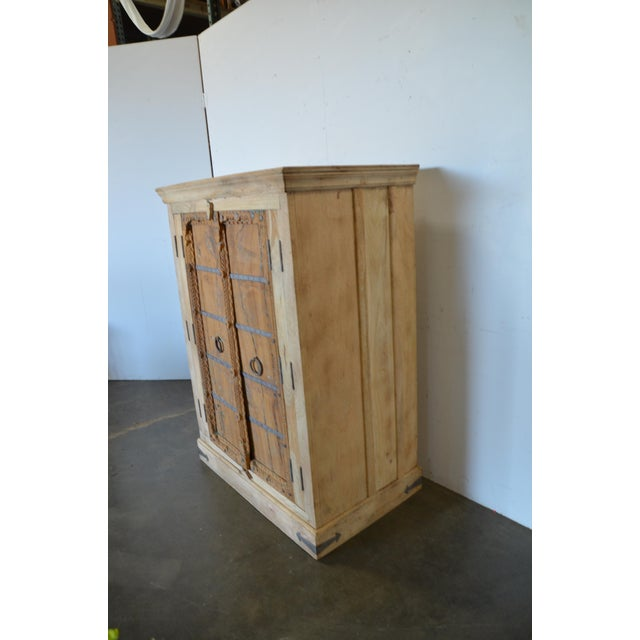 Antique Old Door Indian Cabinet For Sale - Image 4 of 8