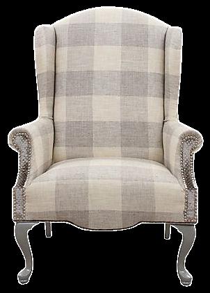 Queen Anne Plaid Wingback Chair  sc 1 st  Chairish & Queen Anne Plaid Wingback Chair | Chairish