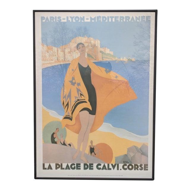 Vintage French Advertisement Illustration by Roger Broders Framed For Sale