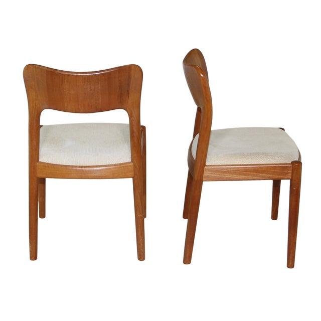 Niels Koefoed 6 Danish Teak Chairs by Niels Koefoeds For Sale - Image 4 of 10
