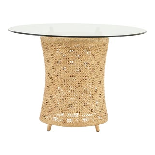 Ava Table Base, Beige, Rattan For Sale