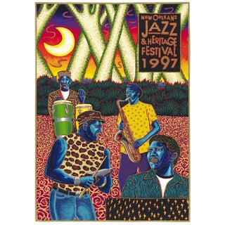 """1997 Francis Pavy """"The Neville Brothers"""" Silkscreen Poster"""