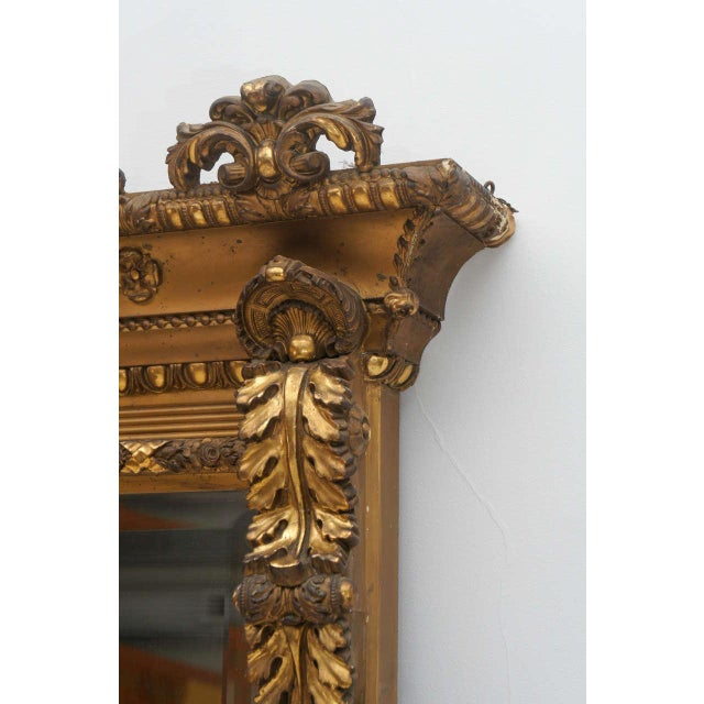 Gold Gilded Floor or Mantle Mirror - Image 7 of 9