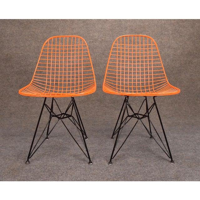Vintage Herman Miller for Eamer Mid-Century Dkr Orange Chairs - Image 10 of 11