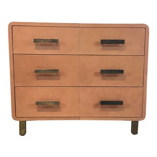 Made Goods Modern Dante Tan Leather Chest of Drawers For Sale