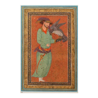 1940s Persian Original the Falconer Lithograph For Sale
