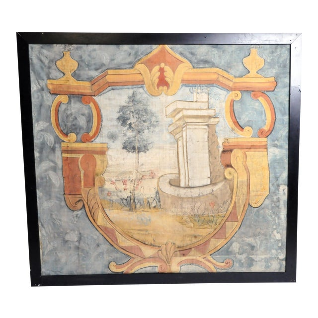 18th Century French Chateau Banner For Sale