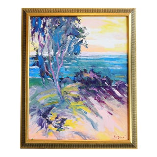 Ventura California Original Juan Guzman Plein Air Landscape Seascape Painting For Sale