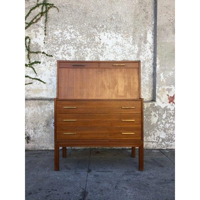 """""""Falsigs"""" Made in Denmark Vintage Teak Desk - Image 2 of 7"""
