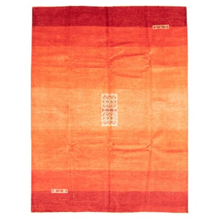 """Red Ombre Hand-Knotted Rug- 8'4"""" X 10'10"""" For Sale"""