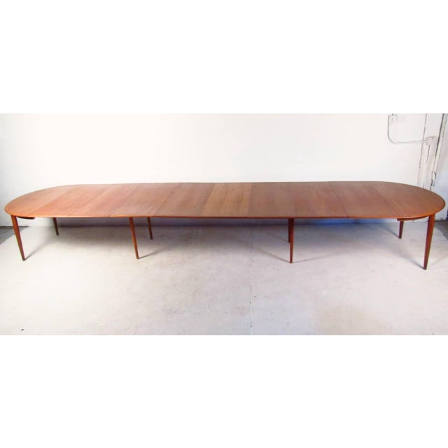 Erik Buck Mid-Century Teak Conference Table & 14 Eric Buck Dining Chairs For Sale - Image 4 of 10