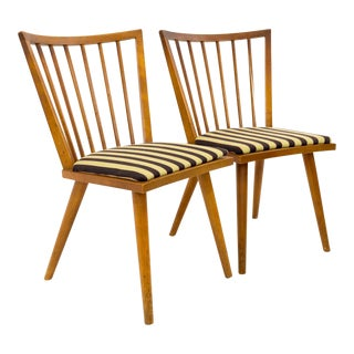 Leslie Diamond for Conant Ball Mid Century Windsor Dining Chairs - a Pair For Sale