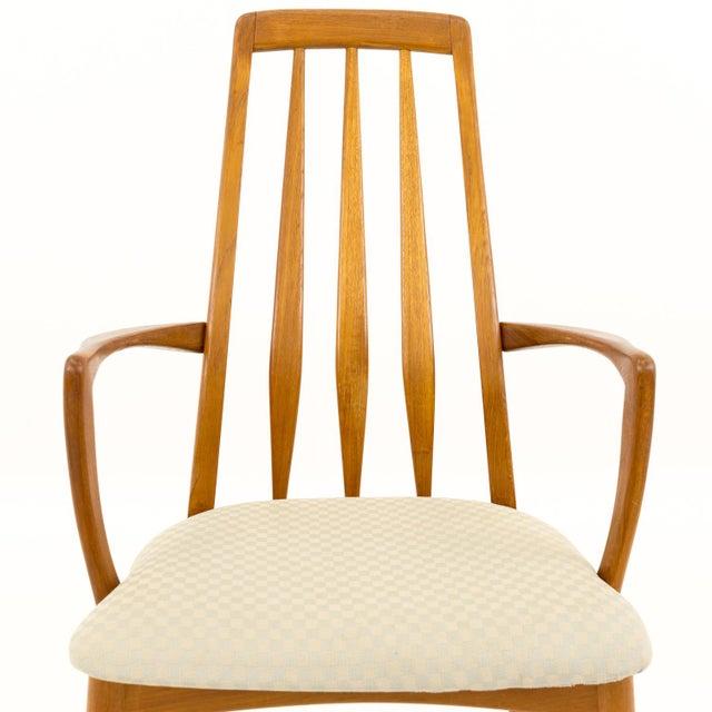 Vintage Mid Century Niels Koefoed Hornslet Danish Teak Eva Dining Chairs - Set of 6 For Sale - Image 10 of 13