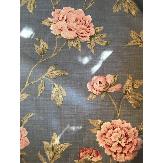 Blue Colefax & Fowler Karina Blue Linen Fabric - 7 3/8 Yards For Sale - Image 8 of 10