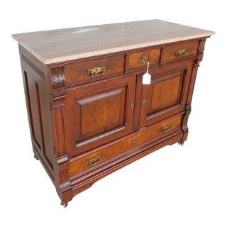 Antique Victorian Renaissance Walnut & Maple Chest With Secret Compartment For Sale