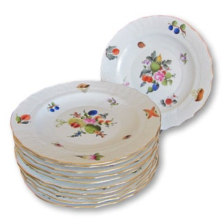 Herend Fruits & Flowers Dessert Plates - Set of 10 Preview