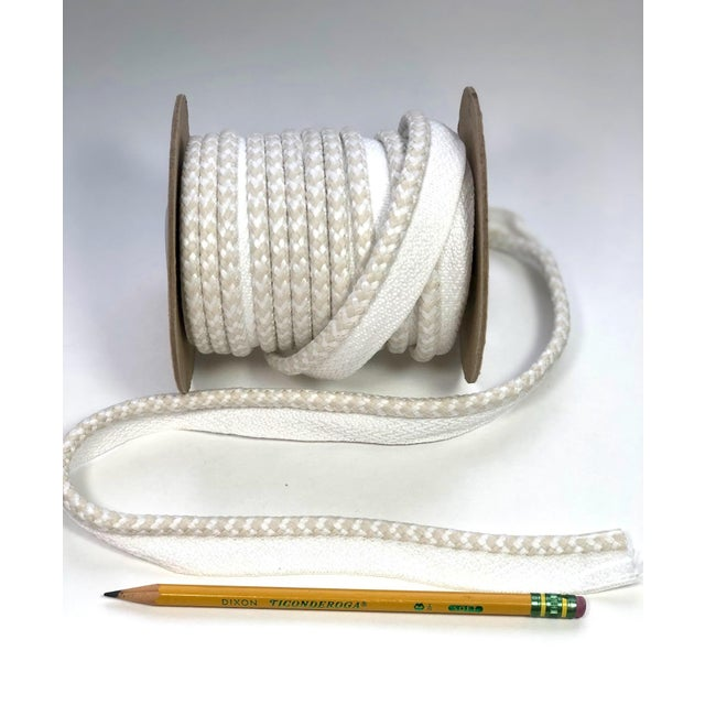 """Braided 1/4"""" Indoor/Outdoor Cord in White/Cream For Sale - Image 4 of 10"""