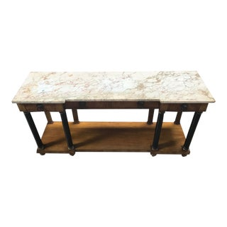 1960's Vintage John Widdicomb Empire Style Marble Top Console For Sale
