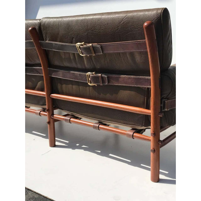 """Arne Norell Leather """"Kontiki"""" Sofa For Sale In Los Angeles - Image 6 of 13"""