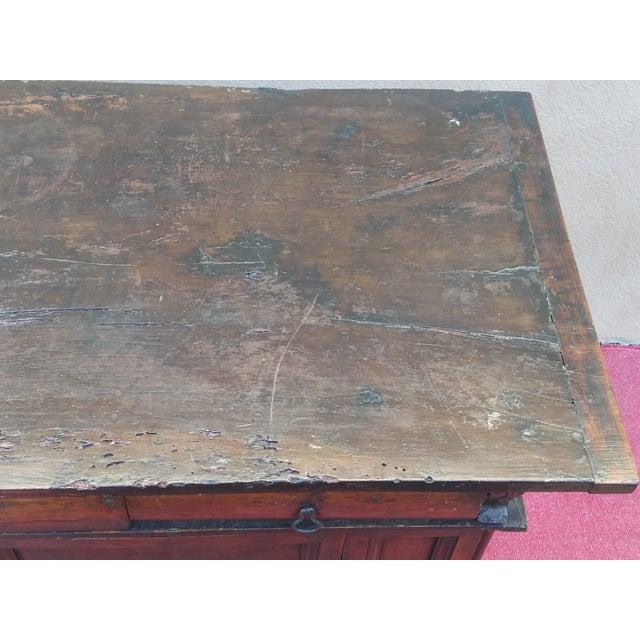 Late 17th Century Italian Renaissance Dark Walnut Buffet For Sale - Image 4 of 13