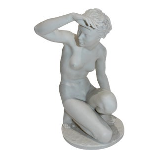 """Die Hockende"" Sculpture by Klimsch (1870-1960) Produced by Rosenthal For Sale"