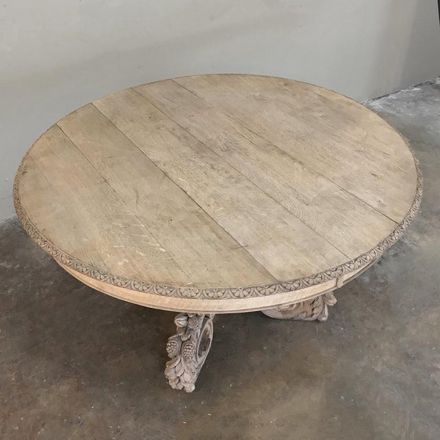 Mid 19th Century 19th Century French Renaissance Stripped Center Table For Sale - Image 5 of 13