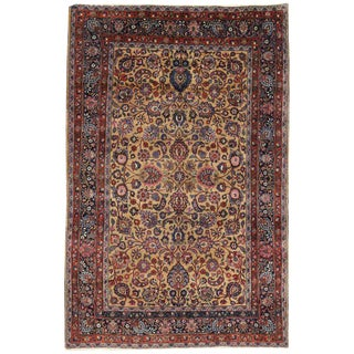 Persian Mashhad Rug With Traditional Style - 6′9″ × 10′4″ For Sale
