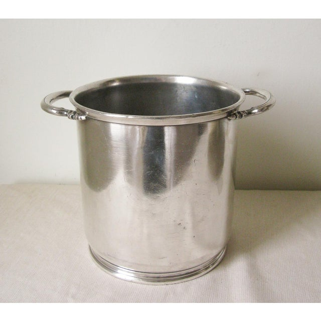 Red Vintage Marc Stevens, Inc. Hotel Silver Champagne Bucket For Sale - Image 8 of 8