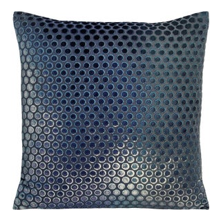 Shark Blue Dots Velvet Pillow