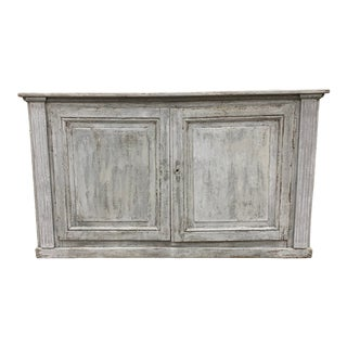 19th C French Two Door Painted Console Buffet For Sale