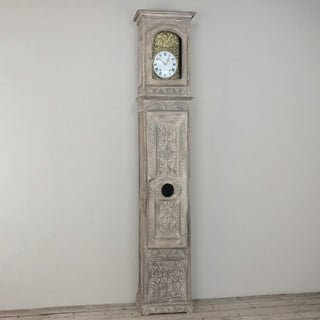 19th Century French Gothic Whitewashed Long Case Clock Preview