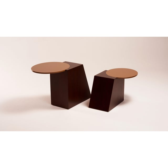 Contemporary V Tables by Jason Mizrahi - a Pair For Sale - Image 3 of 6