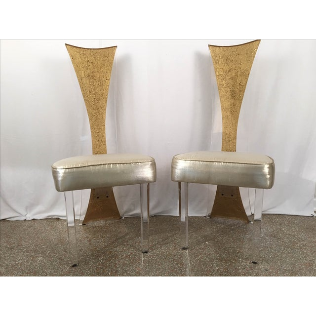 Vintage Glam & Unique Lucite Dining Chairs - Set of 6 - Image 5 of 9