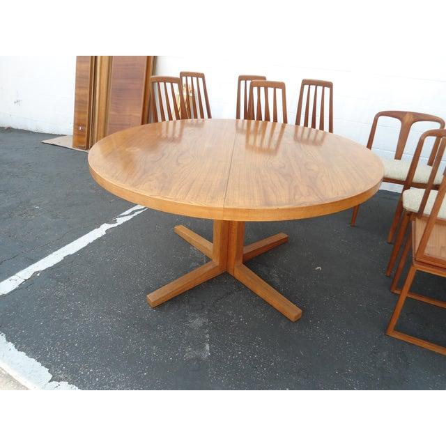 Danish Modern Heltborg Mobler Extendable Dining Table - Image 2 of 11
