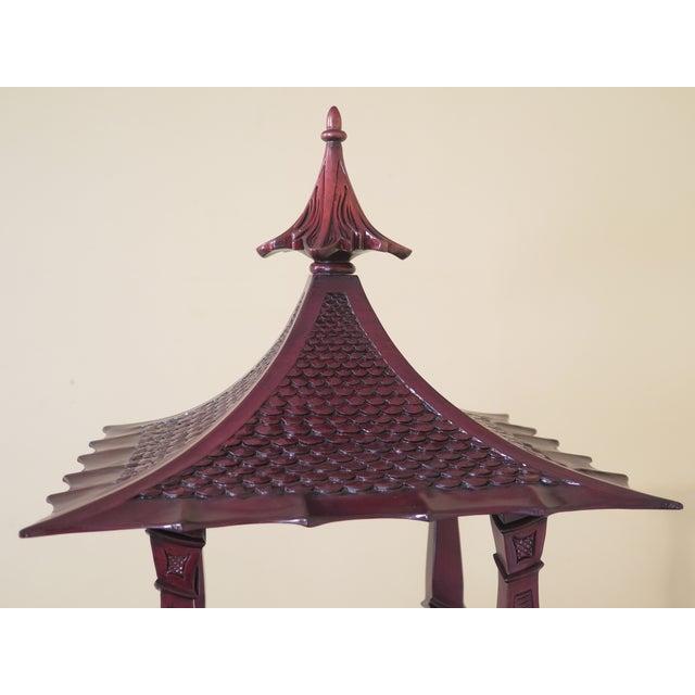 Kindel Furniture Kindel Mahogany Pagoda Vitrine For Sale - Image 4 of 13