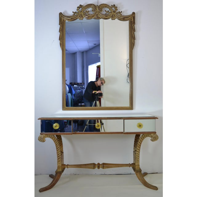 Grosfeld House Vanity and Mirror, circa 1940s - Image 2 of 9