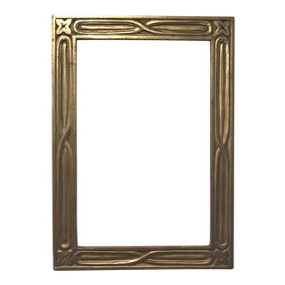 1900s Arts and Crafts Carved Gilt Wood Picture Frame For Sale
