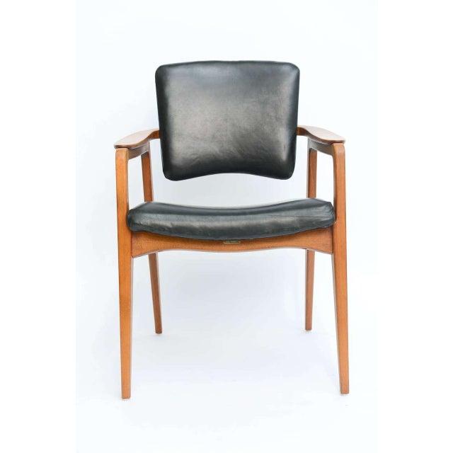 Sigvard Bernadotte for France & Daverkosen Danish Modern Teak Lounge Armchair - Image 3 of 11