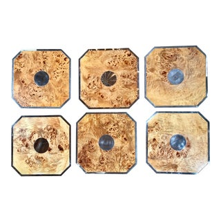1960s Vintage Tommaso Barbi Octagonal Plates/Table Mats - Set of 6 For Sale