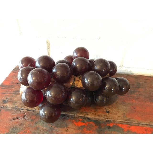 Plastic Vintage Brown Resin Grape Cluster For Sale - Image 7 of 10