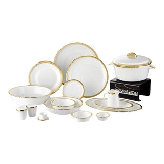 Evaliza Eser-I Istanbul Bone China Dinnerware - Set for 12, 120 Pieces For Sale
