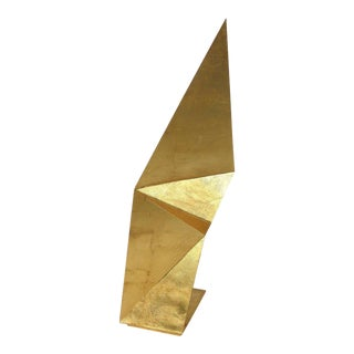 Fly Gold Origami Sculpture by Ricardo Raposo For Sale