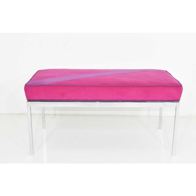 Chrome Florence Knoll Bench For Sale - Image 7 of 7