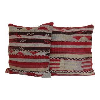 Turkish Kilim Rug Pillows - a Pair
