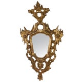 Image of Italian Rococo Carved Gilt Wood Mirror, Mid 18th Century For Sale