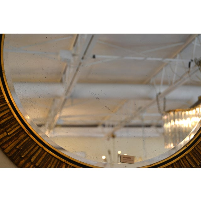 Giltwood Gilt Sunburst Mirror Italy For Sale - Image 7 of 8