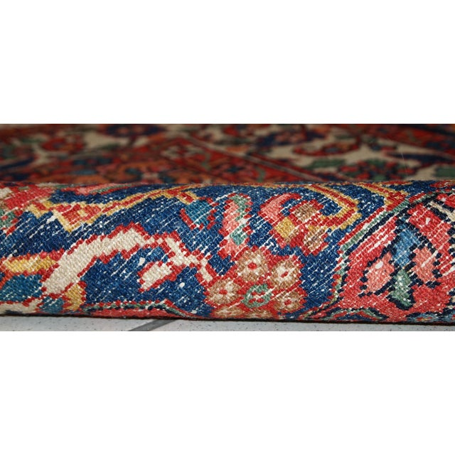 1970s Hand Made Vintage Persian Mashad Rug - 4′7″ × 6′4″ For Sale - Image 4 of 10