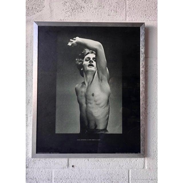 Vintage Mikhail Baryshnikov: Le Jeune Homme Et La Mort Framed Poster. For Sale - Image 9 of 11