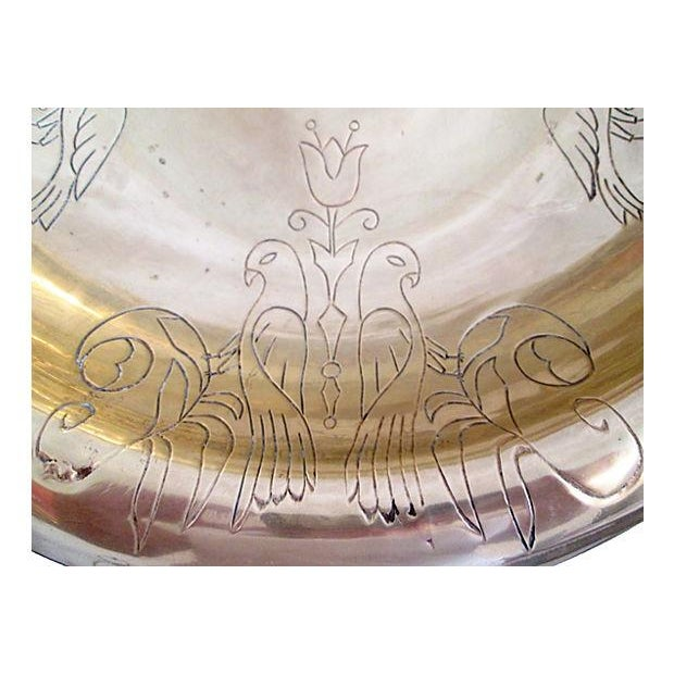 Vintage Brass Kissing Doves Centerpiece Bowl - Image 4 of 6