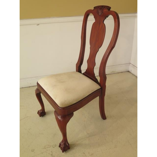 Henkel Harris Ball & Claw Cherry Dining Room Chairs - Set of 8 - Image 8 of 11